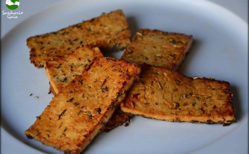 Filetes de tofu al romero