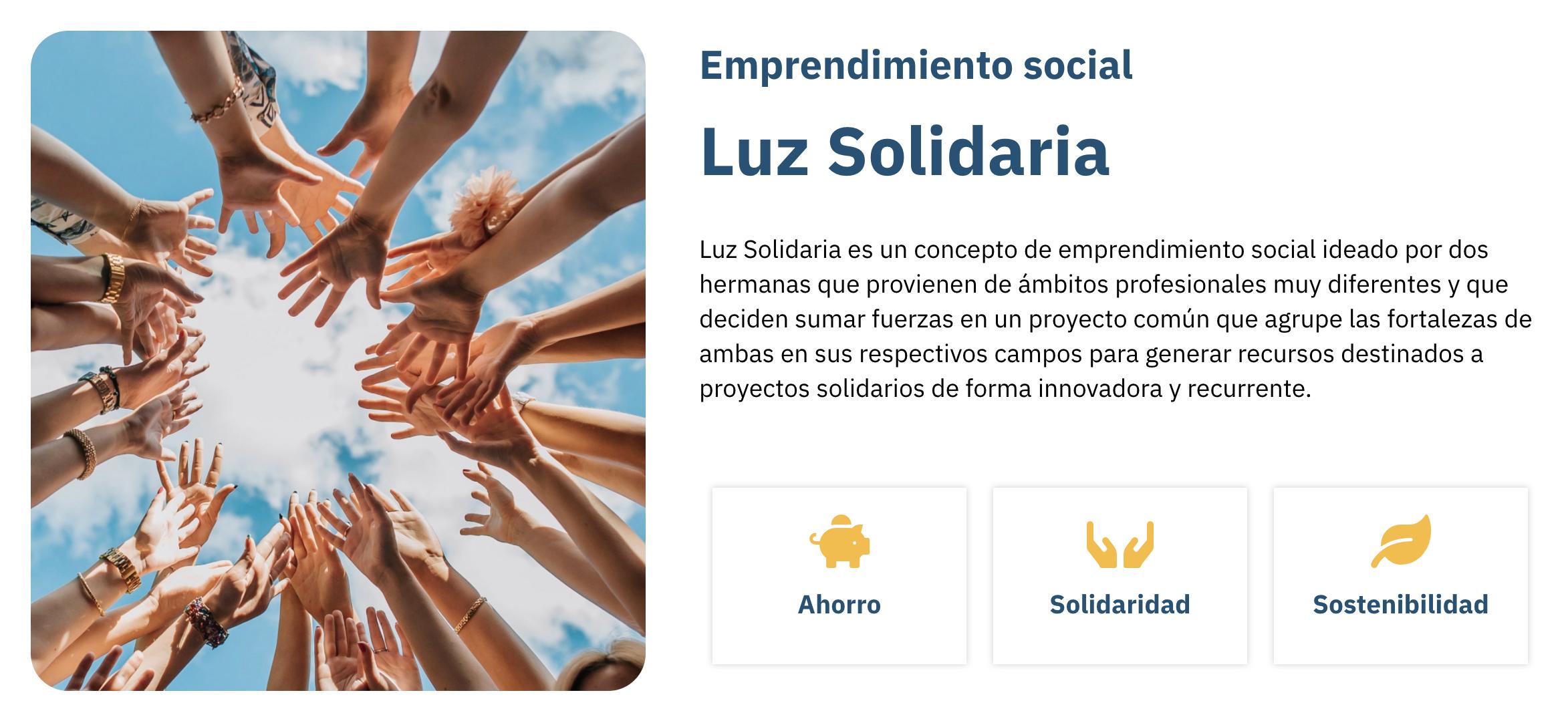 luz solidaria